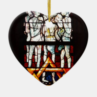 """""""THE GATHERING"""" PARIS FRENCH STAINED GLASS ORNAMENTS"""