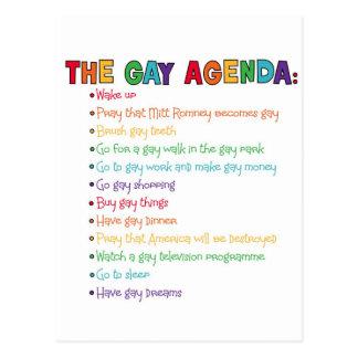 The Gay Agenda Postcard