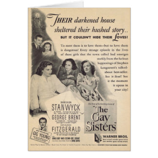 The Gay Sisters 1942 movie ad Card