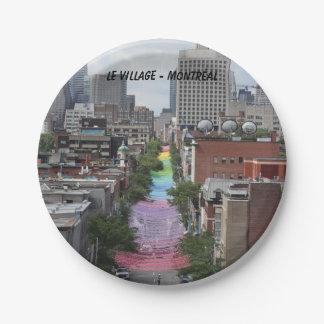 The Gay village - Montreal, pride, pride, Canada, Paper Plate