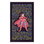 The Geek Girl's Litany for Feminism Print