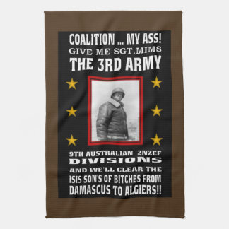 THE GENERAL FOR WAR ON TERROR! HAND TOWEL