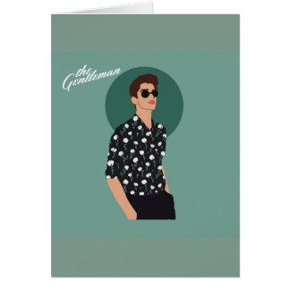 The Gentleman - Flower Card