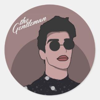 The Gentleman - Space Classic Round Sticker
