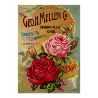 The Geo. H. Mellen Co. Greenhouse Advertisement Poster