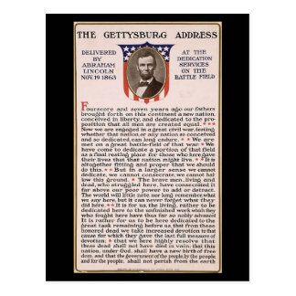 The Gettysburg Address Obama Inauguration Theme Postcard