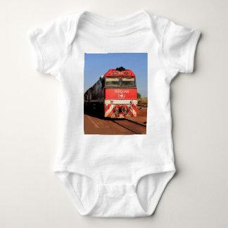 The Ghan train locomotive, Darwin Baby Bodysuit