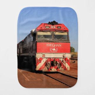 The Ghan train locomotive, Darwin Baby Burp Cloth