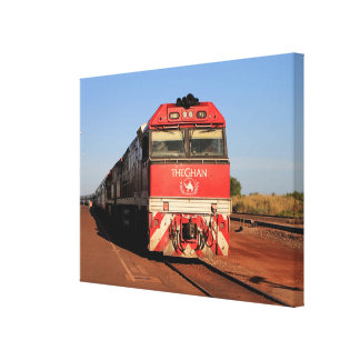 The Ghan train locomotive, Darwin Canvas Print