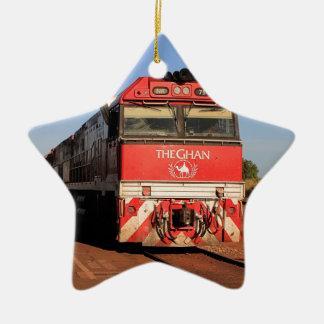 The Ghan train locomotive, Darwin Ceramic Ornament