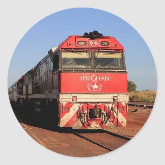 The Ghan train locomotive, Darwin Classic Round Sticker