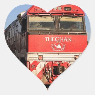 The Ghan train locomotive, Darwin Heart Sticker