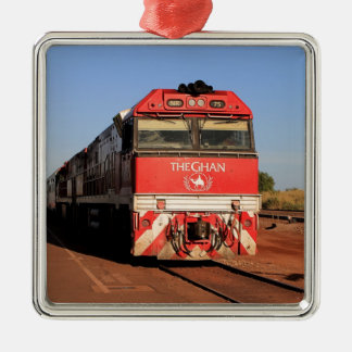 The Ghan train locomotive, Darwin Metal Ornament