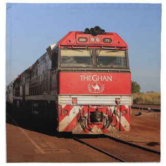 The Ghan train locomotive, Darwin Napkin