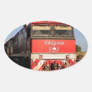 The Ghan train locomotive, Darwin Oval Sticker
