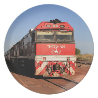 The Ghan train locomotive, Darwin Plate