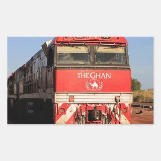 The Ghan train locomotive, Darwin Rectangular Sticker