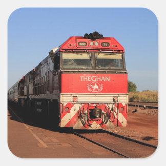 The Ghan train locomotive, Darwin Square Sticker