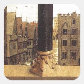 The Ghent Altarpiece (detail) by Jan van Eyck Square Sticker