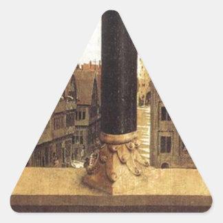 The Ghent Altarpiece (detail) by Jan van Eyck Triangle Sticker