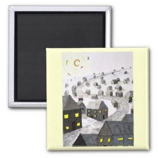 The Ghost In The Machine Square Magnet