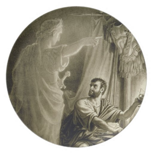 The Ghost of Julius Caesar, in the play by William Dinner Plates
