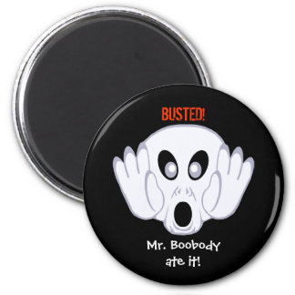 The Ghost Was Busted 6 Cm Round Magnet