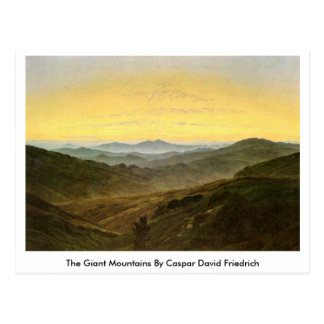 The Giant Mountains By Caspar David Friedrich Postcard