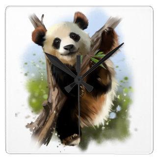 The giant Panda Square Wall Clock