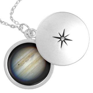 The Giant Planet Jupiter Round Locket Necklace