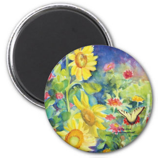 The Gift of the Butterfly Box 6 Cm Round Magnet