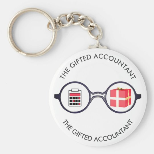 """""""The Gifted Accountant's Logo"""" Basic Round Button Key Ring"""