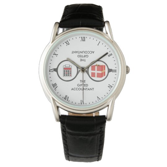 """""""The Gifted Accountant's Logo"""" Wristwatch"""