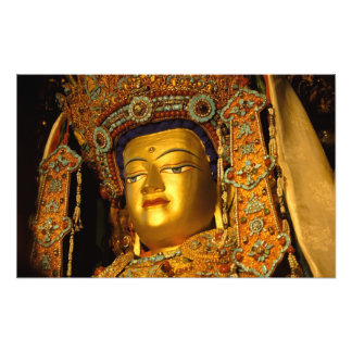 The gilded Jowo Buddha Statue, Jokhang Temple, Photo Print