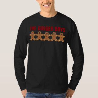 """The Ginger Boys"" Gingerbread Man Boy Band T-Shirt"