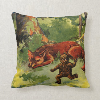 The Gingerbread Boy and the Fox Pillow