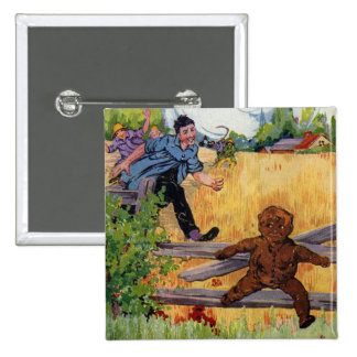 The Gingerbread Boy Escapes Button