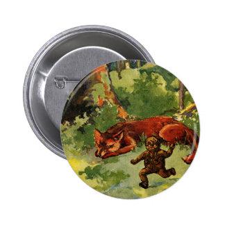The Gingerbread Boy & the Fox Pinback Button