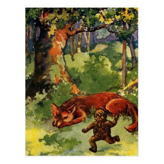 The Gingerbread Boy & the Fox Postcard