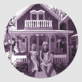 The Gingerbread House Round Sticker