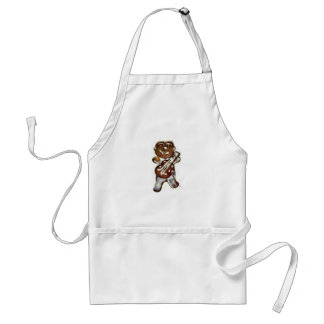 The Gingerbread Man Rocks Adult Apron
