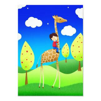 The Giraffe express 13 Cm X 18 Cm Invitation Card
