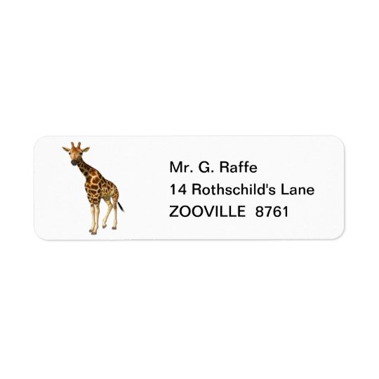 The Giraffe Return Address Label