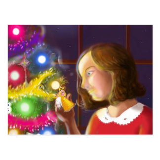 The Girl & the Angel of the Tree Postcard