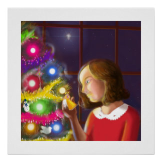 The Girl the Angel of the Tree Print