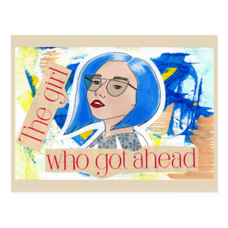 The Girl Who Got Ahead Postcard