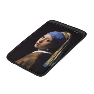 The Girl With A Pearl Earring by Johannes Vermeer Sleeve For MacBook Air