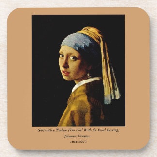 The Girl with a Turban/Girl with the Pearl Earring Beverage Coasters