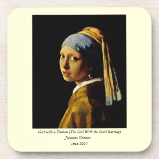 The Girl with a Turban/Girl with the Pearl Earring Drink Coasters