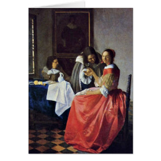 The Girl With A Wineglass. By Johannes Vermeer Card